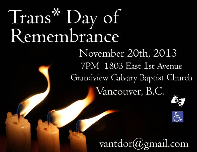 2013 Trans* Day of Remembrance